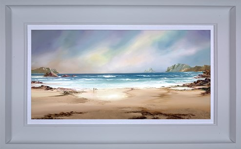 Peaceful Shores by Philip Gray - Framed Embelished Canvas on Board