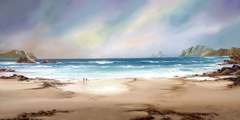 Peaceful Shores by Philip Gray - Embelished Canvas on Board
